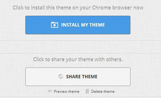 own theme for you chrome browser