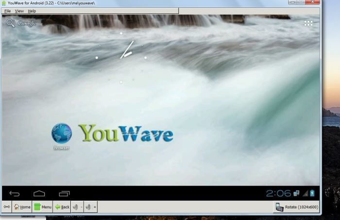 Android-Emulators-Youwave-user-interface